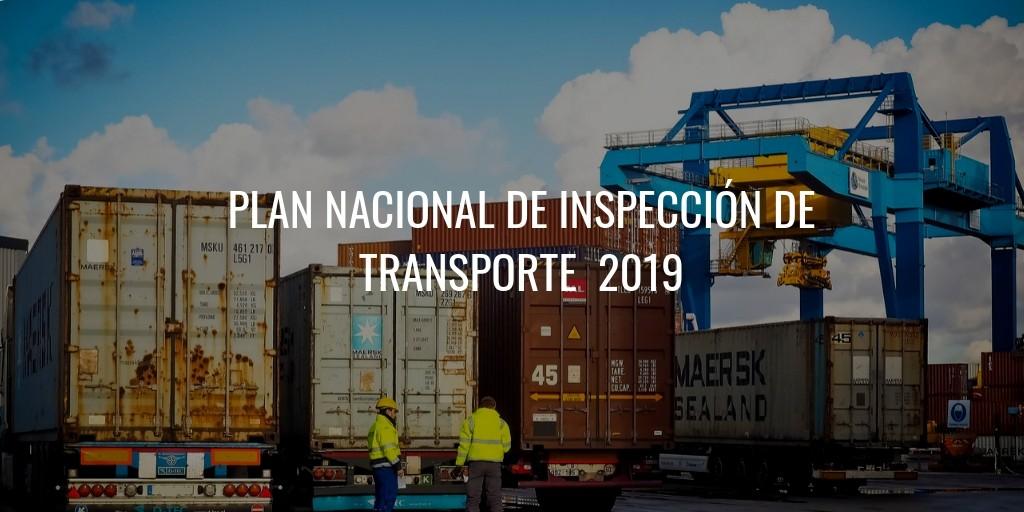 Plan Nacional de Inspección de Transporte 2019
